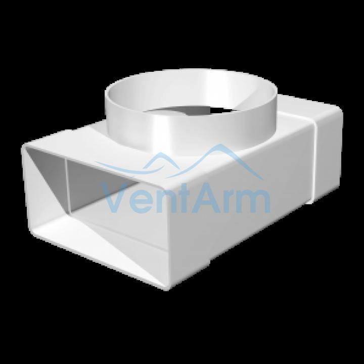 Тройник для плоских и круглых каналов Эра 620ТФ10П 60x204/100