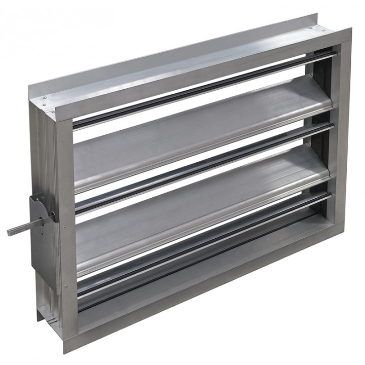 Алюминиевый воздушный клапан 900х500