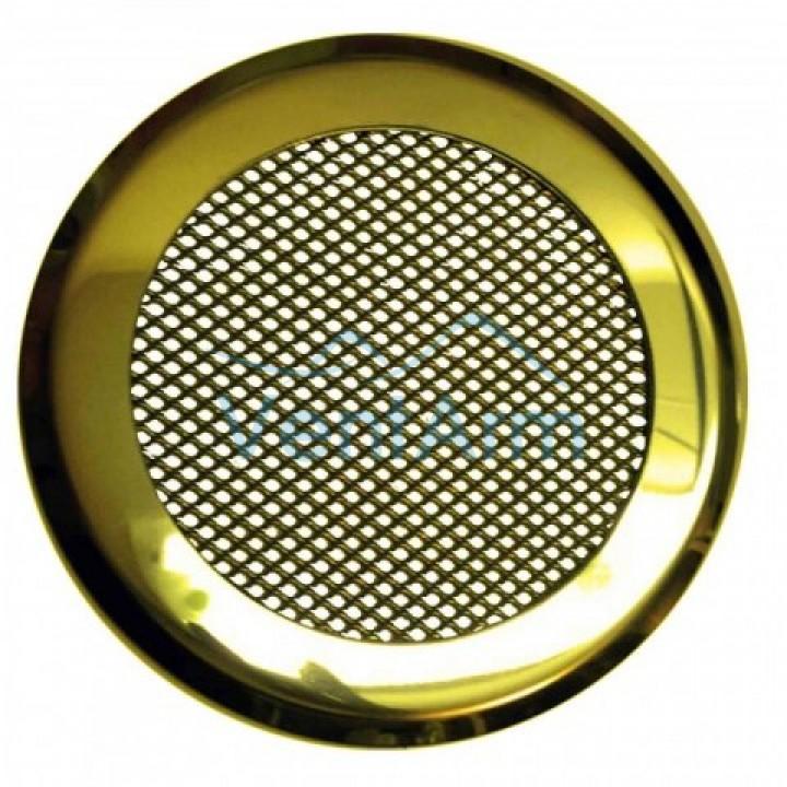 Решетка на магнитах КП-120 Золото круглая