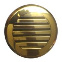 Решетка круглая жалюзи Родфер КП-120 Нержавейка Золото, Медь