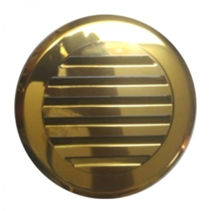 Решетка круглая жалюзи Родфер КП-100 Нержавейка Золото, Медь