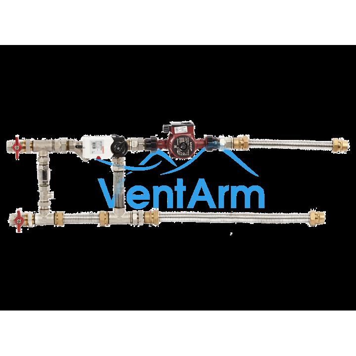 Смесительный узел с гибкими подводками Shuft MST 25-40-1.0-C24-F-TC