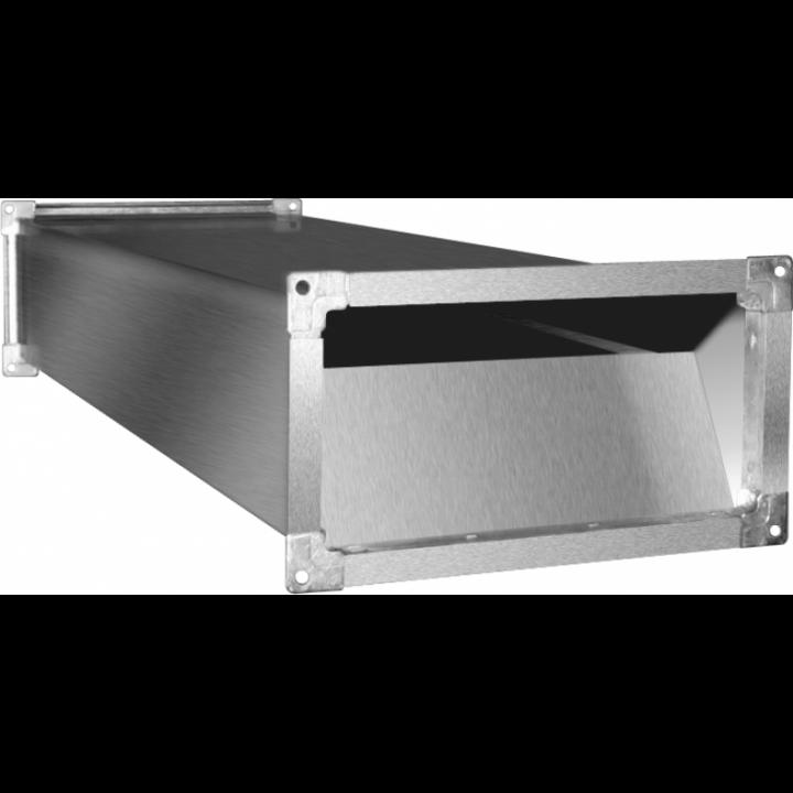 Шумоглушитель для прямоугольных воздуховодов Shuft SRr 400x200/1000