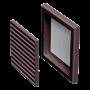 Решетка пластиковая VENTS МВ 120 с коричневый