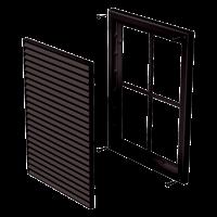 Решетка пластиковая VENTS МВ 160 с коричневый