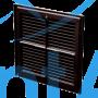 Решетка пластиковая VENTS МВ 250 с коричневый