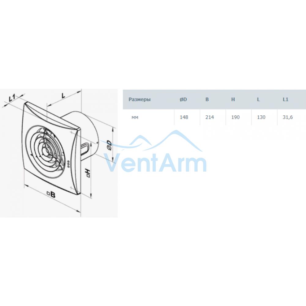 Вытяжной вентилятор VENTS 150 T Квайт (Таймер) 19 Вт