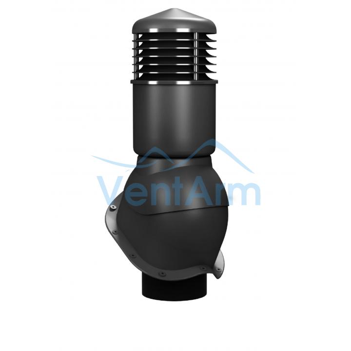 Вентиляционный выход изолированный WIRPLAST PERFEKTA K55 150/500 Графитовый