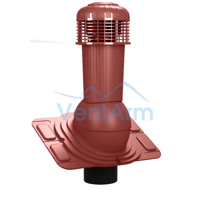 Вентиляционный выход с электровентилятором WIRPLAST UNIWERSAL PLUS K93 110-125/500 Красный