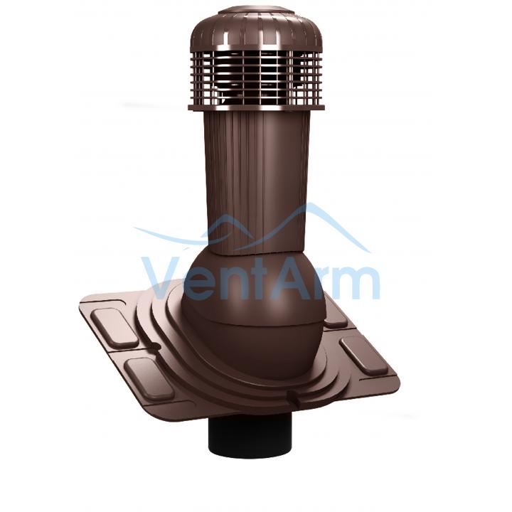 Вентиляционный выход с электровентилятором WIRPLAST UNIWERSAL PLUS K93 110-125/500 Коричневый