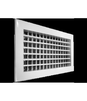SHUFT Алюминиевая настенная двухрядная решетка 2WA 100x100