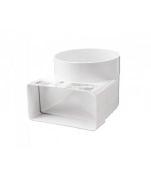 Vents соединительное колено 90° для плоских и круглых  каналов 55х110-Ø100